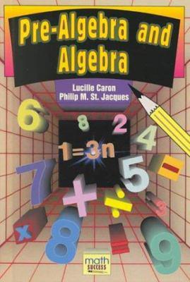 Pre-algebra and Algebra Book Cover Image