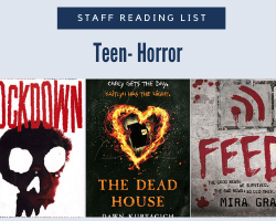 Staff Reading List icon with the text Teen-Horror